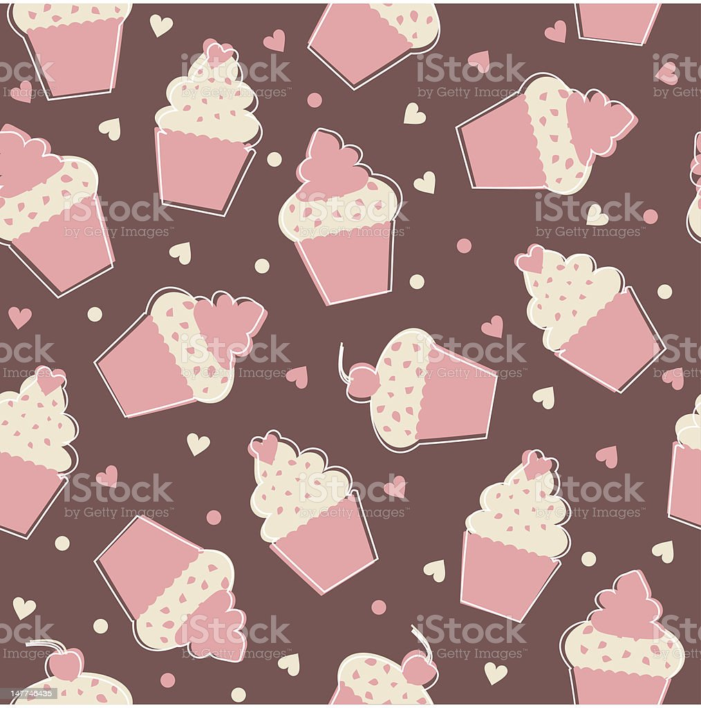 Cupcakes Background royalty-free cupcakes background stock vector art & more images of backgrounds