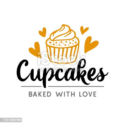 istock Cupcakes symboltype badge label 1201598786