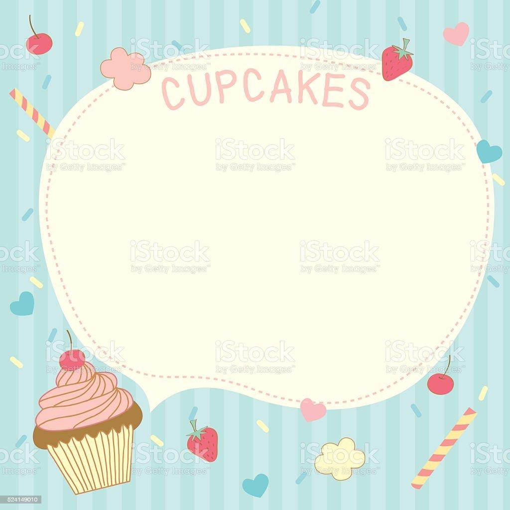 cupcakes vorlageblau stock vektor art und mehr bilder von aufsch umen 524149010 istock. Black Bedroom Furniture Sets. Home Design Ideas