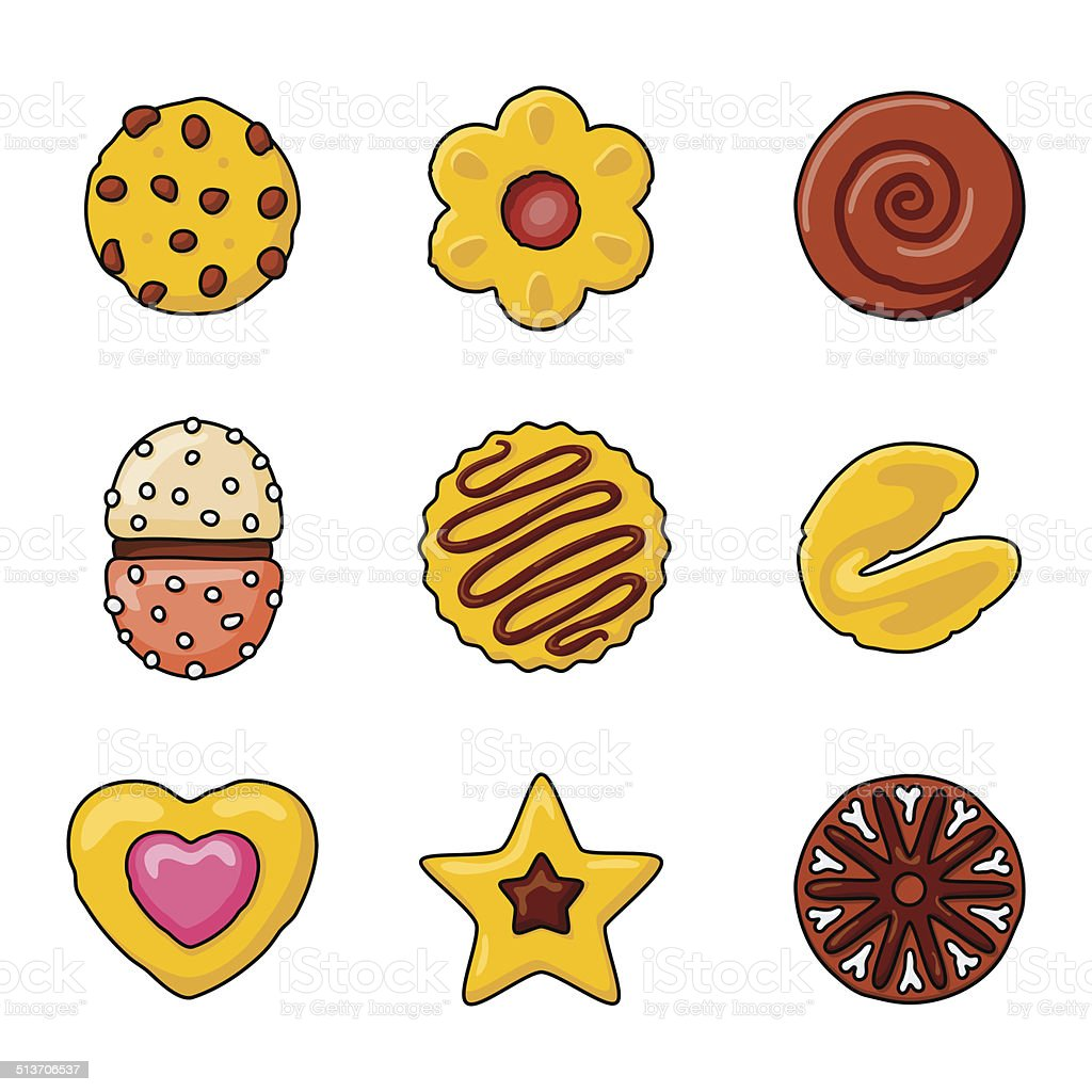 cupcakes vector icon set vector art illustration