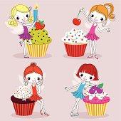 Four Cupcake Fairies.