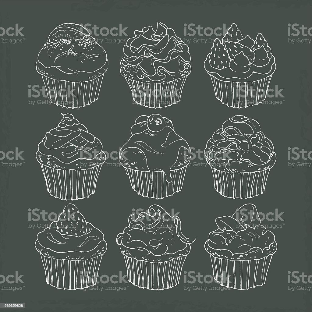 カップケーキ ベクターアートイラスト