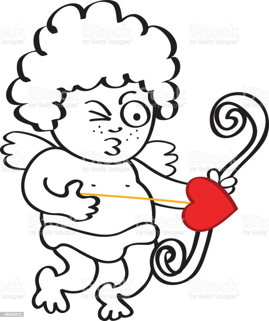 Cupid Angel cartoon, illustration at valentine's day royalty-free cupid angel cartoon illustration at valentines day stock vector art & more images of angel