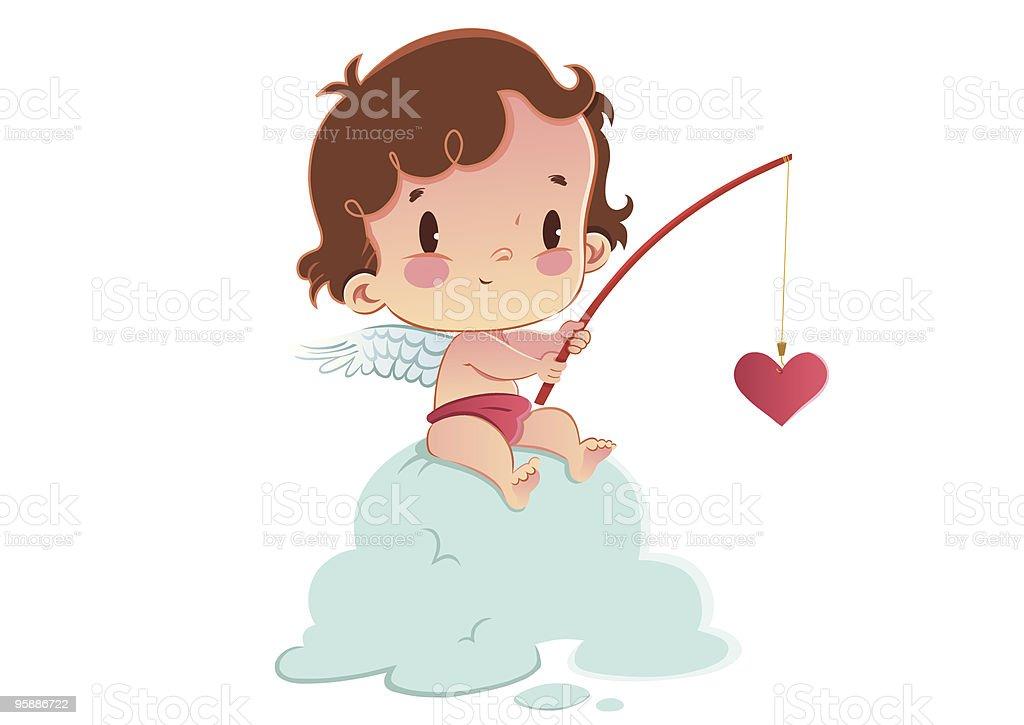 Cupido de trabajo - 1 - ilustración de arte vectorial