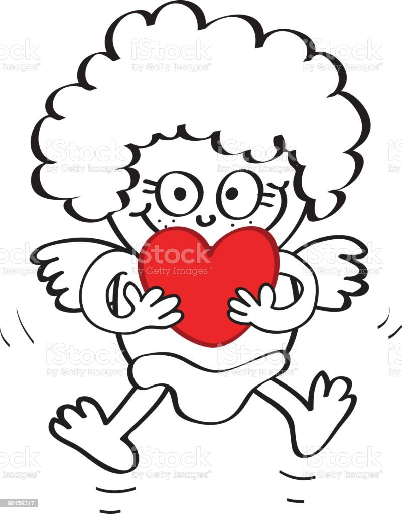Cupid cartoon with hearts ready for valentines day royalty-free cupid cartoon with hearts ready for valentines day stock vector art & more images of angel
