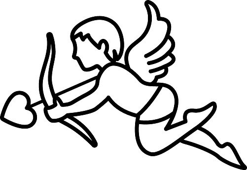 Cupid Concept vector line Icon design, Love and romance symbol on white background, Valentines Day Sign,