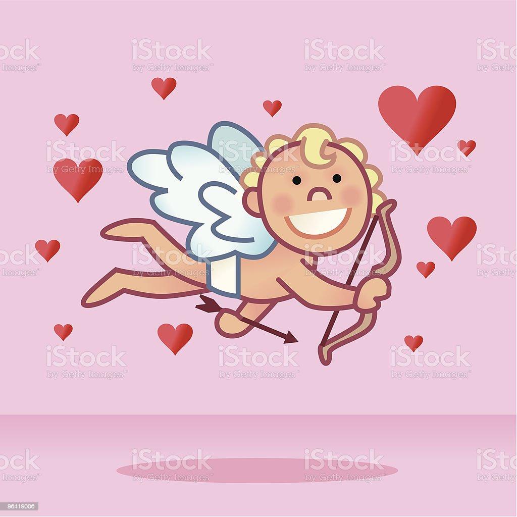 Cupid Hearts royalty-free stock vector art