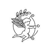 Cupid icon . Simple Cupid Arrow , Cupid logo. Love icon sign. Cupid icon vector, Love Hearts, Cupid icon vector isolated on white background. Cupid icon art. Cupid icon eps. Cupid icon Image. Cupid icon logo. Cupid icon sign. Cupid icon flat. Cupid icon design.
