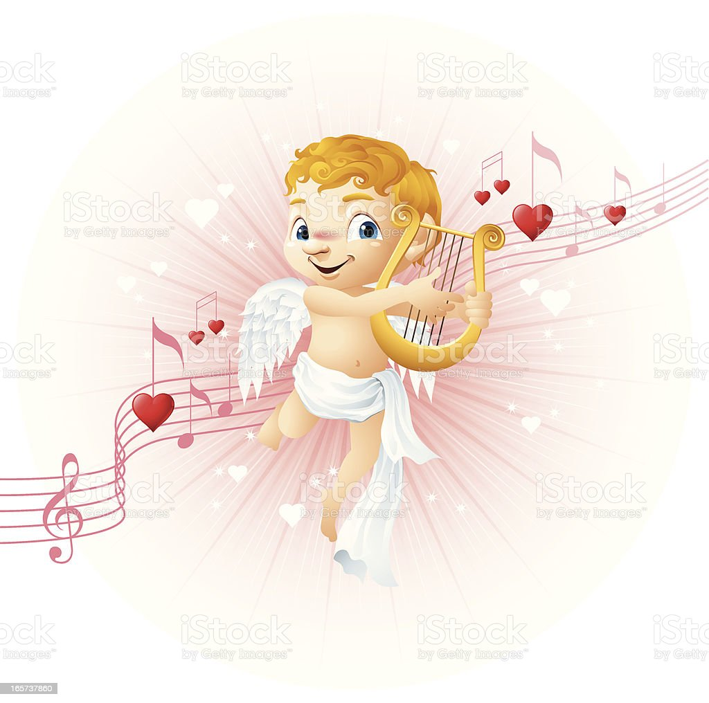 Cupid - Love Song royalty-free cupid love song stock vector art & more images of angel