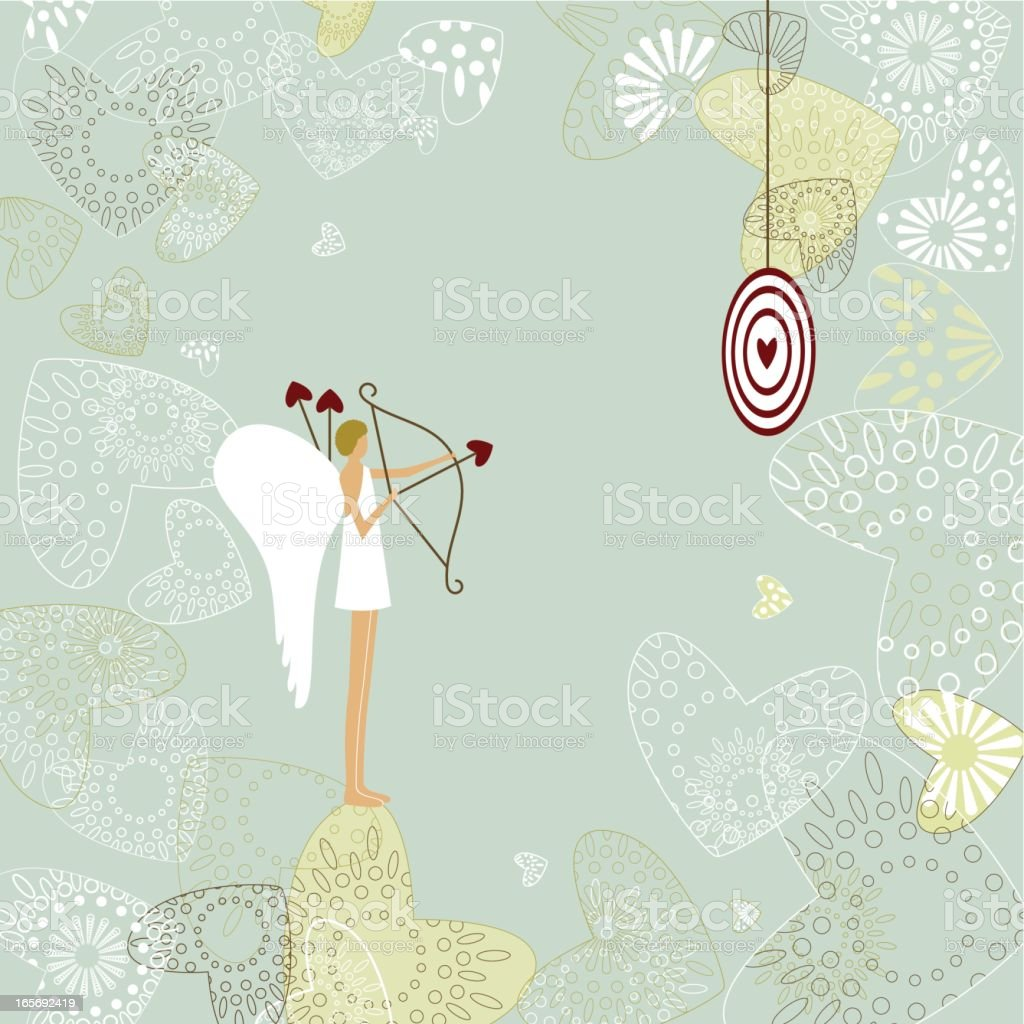 Cupid shooting arrows at a tense get for practice royalty-free cupid shooting arrows at a tense get for practice stock vector art & more images of angel