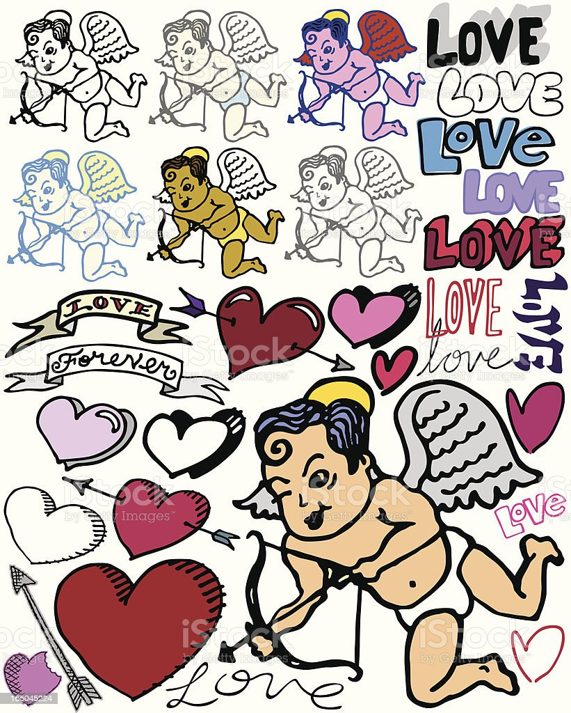 Cupid Strikes Again! royalty-free stock vector art