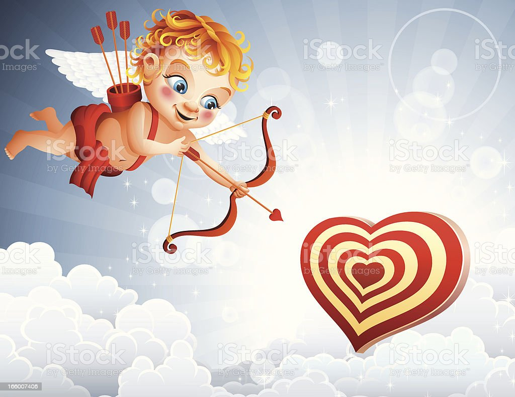 Cupid training royalty-free cupid training stock vector art & more images of angel
