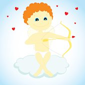 cupid with a bow and arrow
