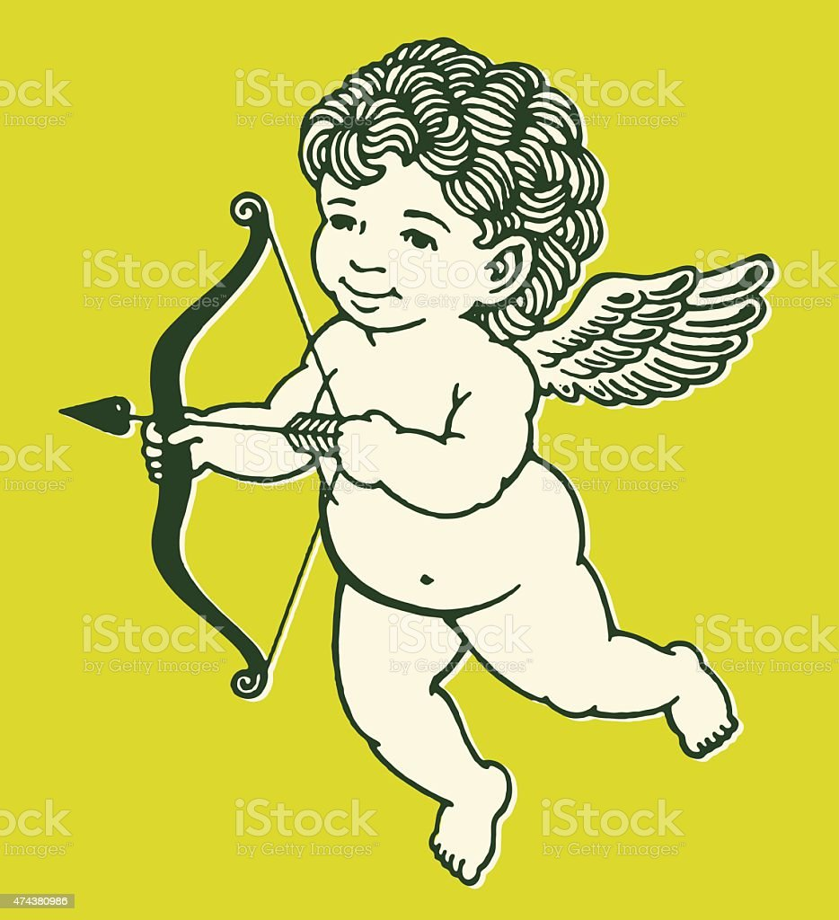 Cupid With Bow and Arrow