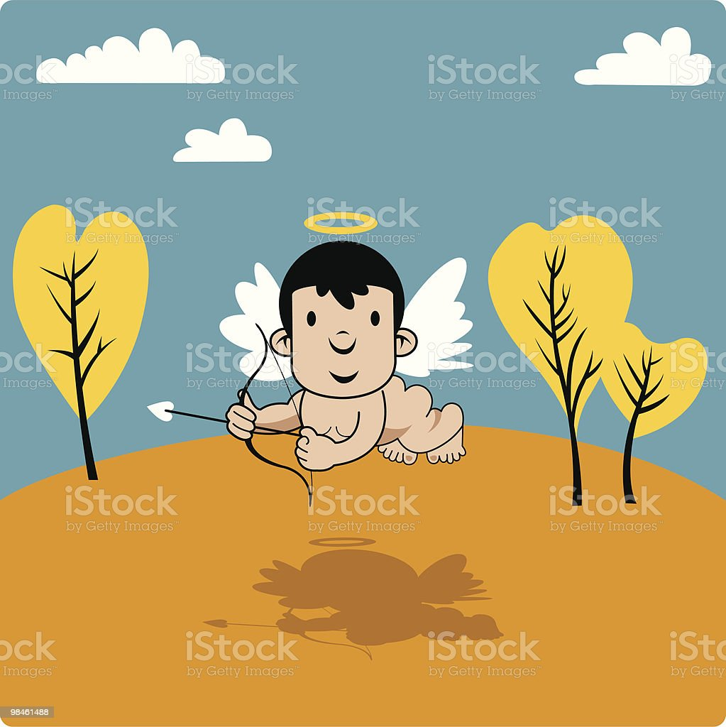 Cupid With Bow And Arrow Stock Vector Art & More Images of