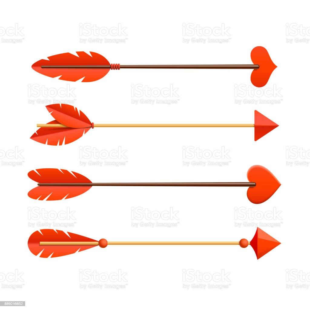 Cupids arrows vector art illustration