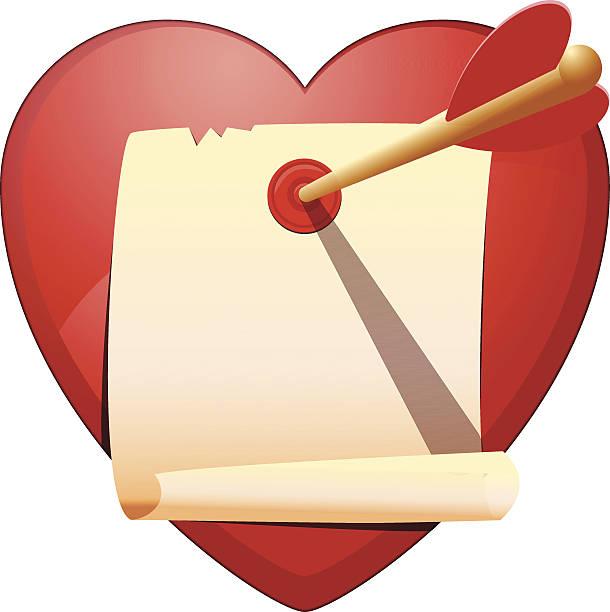 illustrazioni stock, clip art, cartoni animati e icone di tendenza di cupids messaggio - love word
