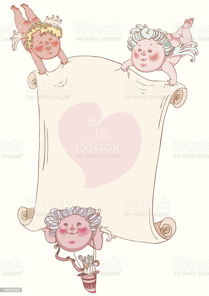 Cupids vector art illustration