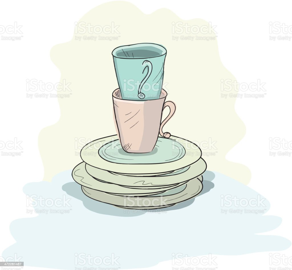 royalty free stack of dirty dishes clip art vector images rh istockphoto com no dirty dishes clipart dirty dishes in sink clipart