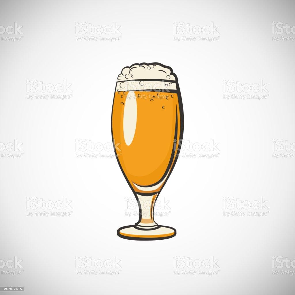 Cups of beer vector art illustration