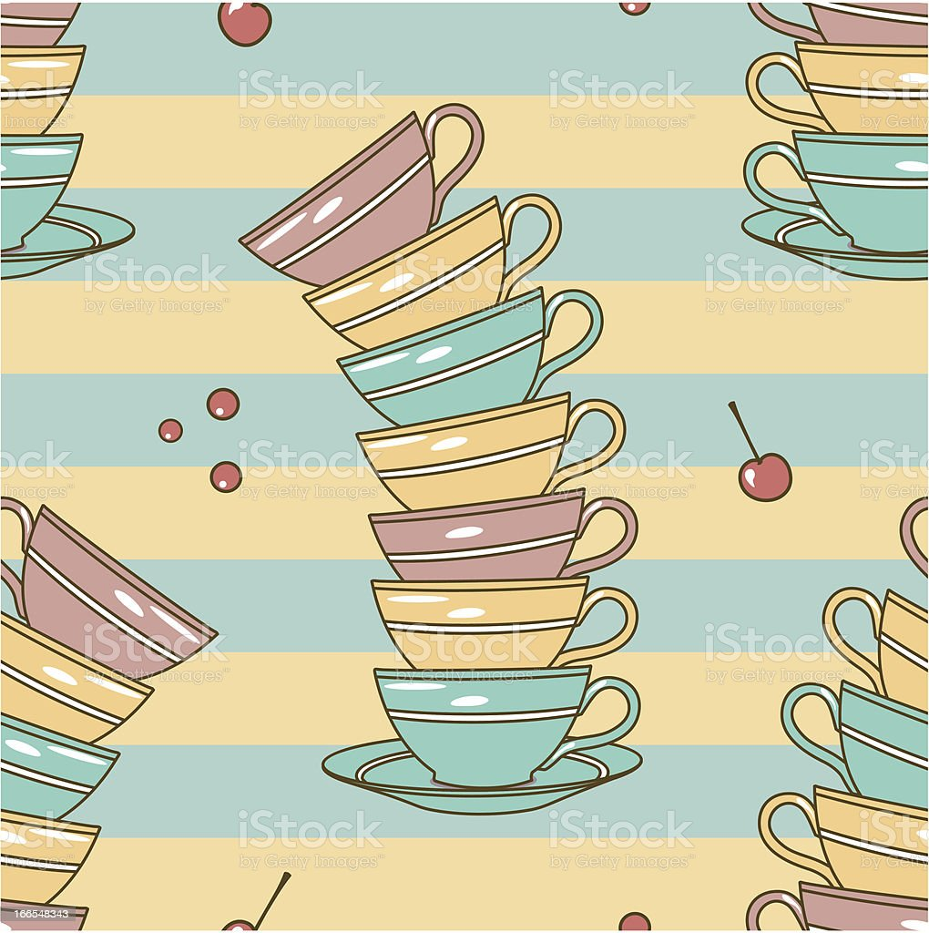 cups pattern royalty-free stock vector art
