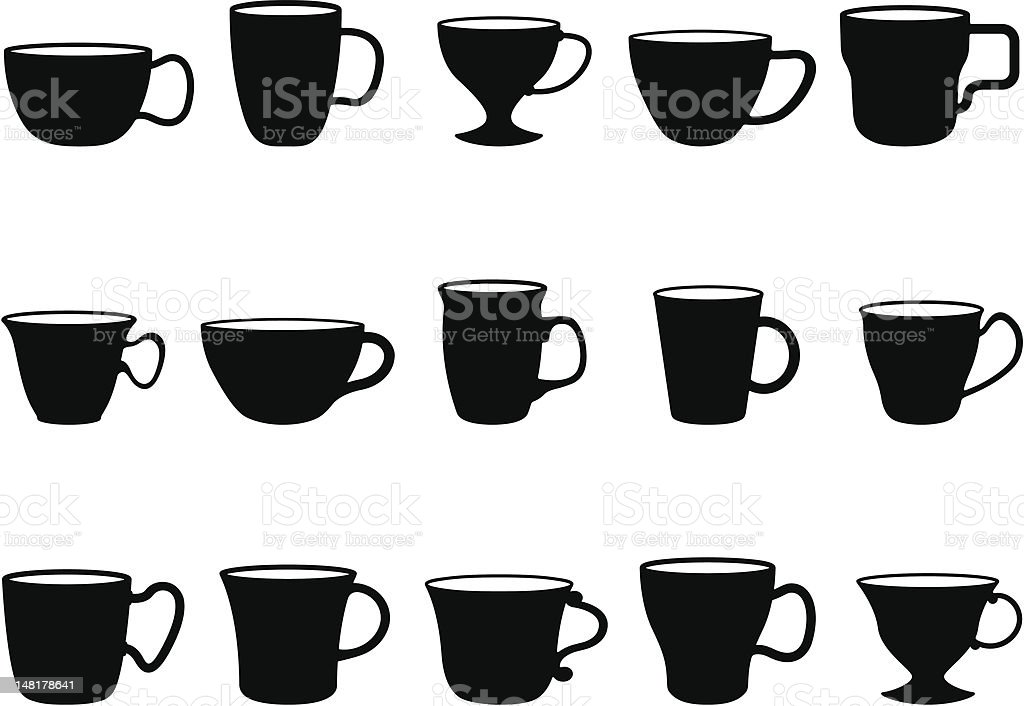 Cups royalty-free stock vector art