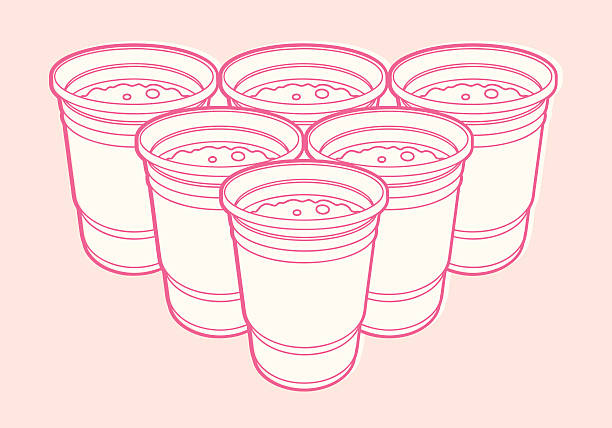 6 cups - bachelor party stock illustrations, clip art, cartoons, & icons
