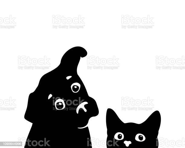 Curious cat and dog muzzles vector vector id1095644996?b=1&k=6&m=1095644996&s=612x612&h=cfucnfdtqdmrasoqvc9hqljm ae7bkeqgyjkkfbouky=