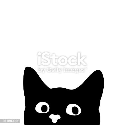 istock Curious cat. Sticker on a car or a refrigerator 941880292