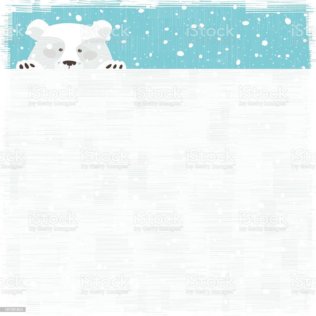 Curious Polar bear vector art illustration