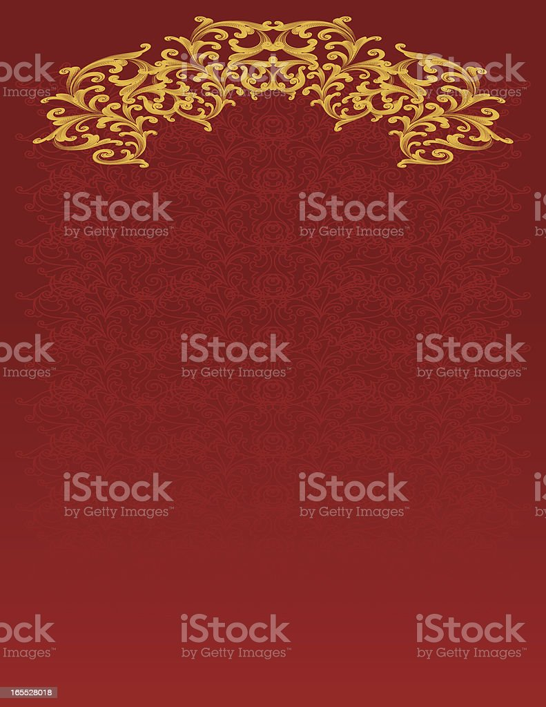 Curl Scroll Background royalty-free curl scroll background stock vector art & more images of antique