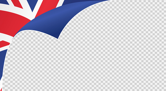 Curled corner UK flag isolated  on png or transparent  background,Symbols  United Kingdom,Great Britain , template for banner,card,advertising ,promote,ads, web design, magazine, news paper, vector