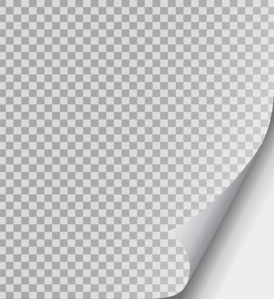 gewellte seite papier ecke satz. papierfalten, kurven-flip-ecke und papiere locken winkel. flipping buchseite, gebogener rahmen des notizblocks. blatt-aufkleber mit curl-effekt. isolierte vektor-illustration - buchseite stock-grafiken, -clipart, -cartoons und -symbole