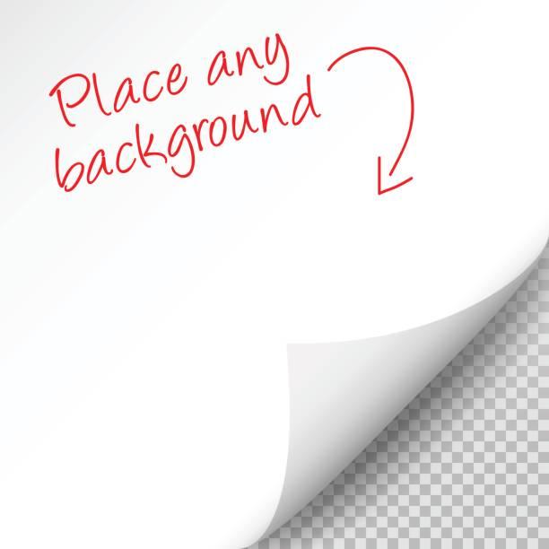 用紙の空白のシート上の影があるページをカール - ページ点のイラスト素材/クリップアート素材/マンガ素材/アイコン素材