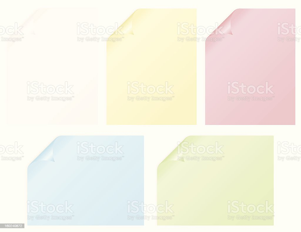 Curled pages royalty-free curled pages stock vector art & more images of angle