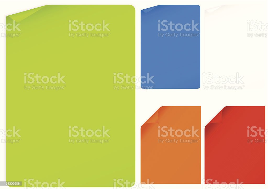 Curled pages royalty-free stock vector art