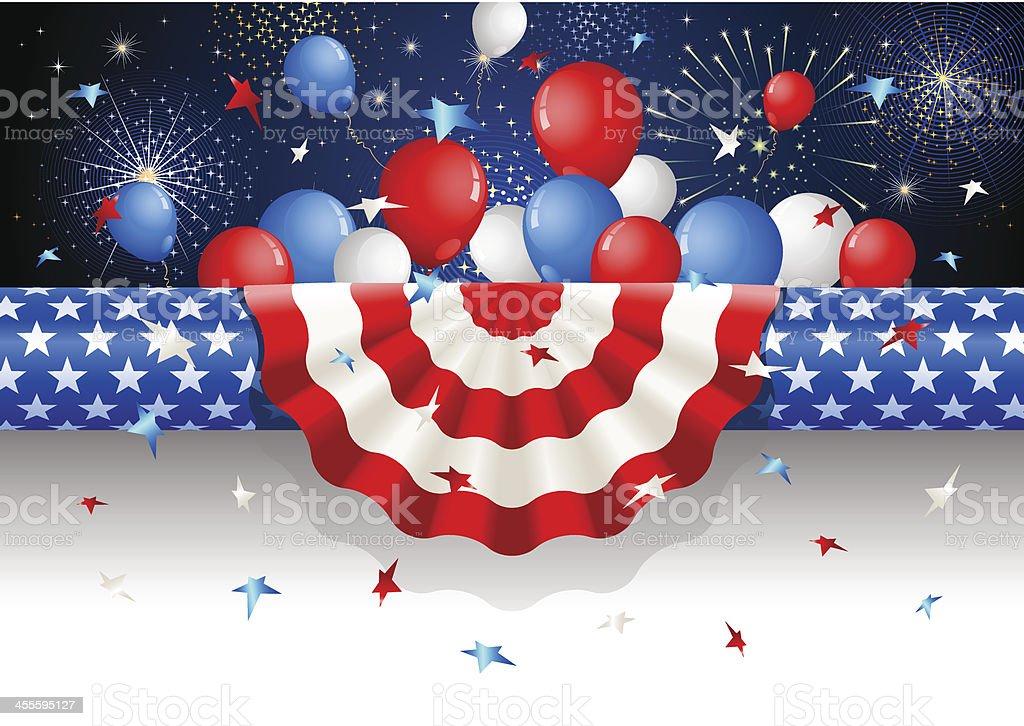 Enrulado papel estadounidense página de Fin de año - ilustración de arte vectorial