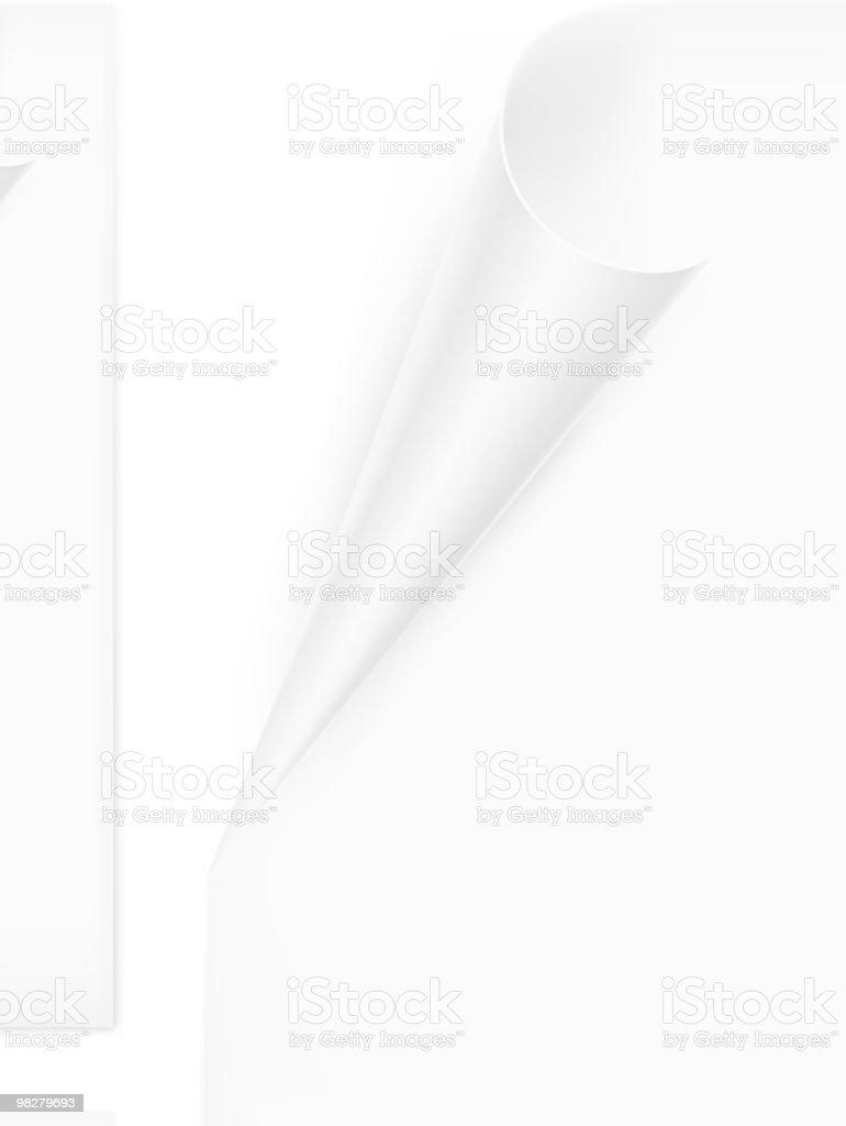 Ricciolo di carta ricciolo di carta - immagini vettoriali stock e altre immagini di accessorio personale royalty-free