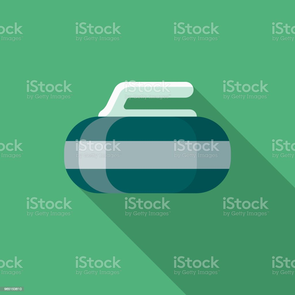 Curling Flat Design Winter Icon with Side Shadow royalty-free curling flat design winter icon with side shadow stock vector art & more images of blue