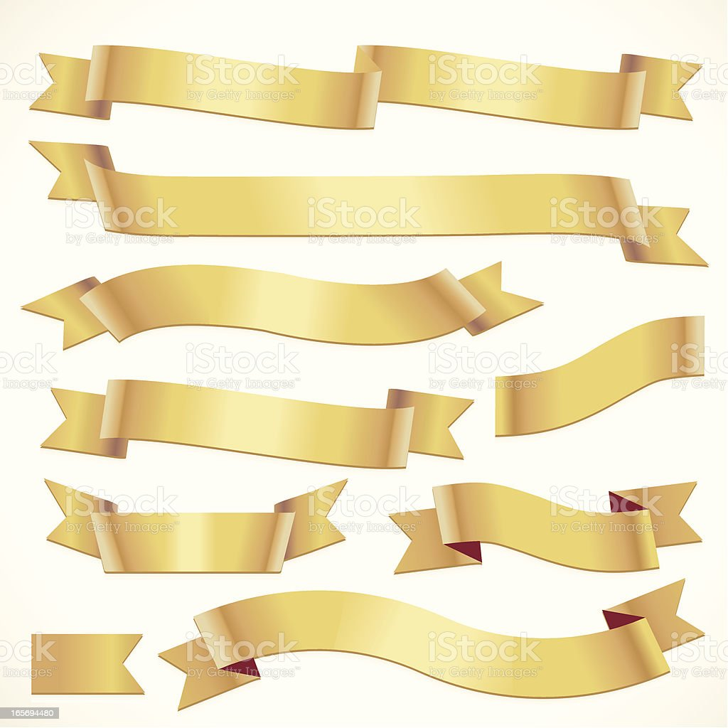 Curling golden ribbons royalty-free curling golden ribbons stock vector art & more images of achievement