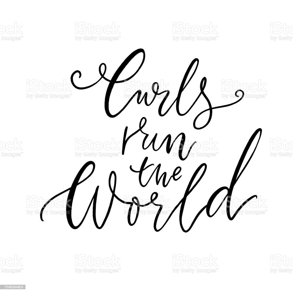 Curls Run The World Hair Quote Inspirational Saying About Curly ...