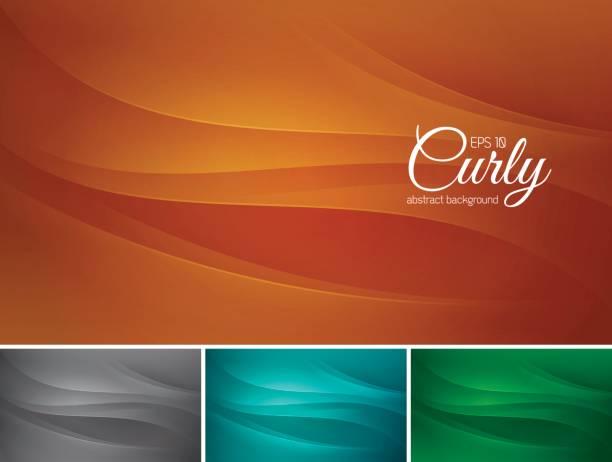 curly abstrakter hintergrund - dunkelbraun stock-grafiken, -clipart, -cartoons und -symbole