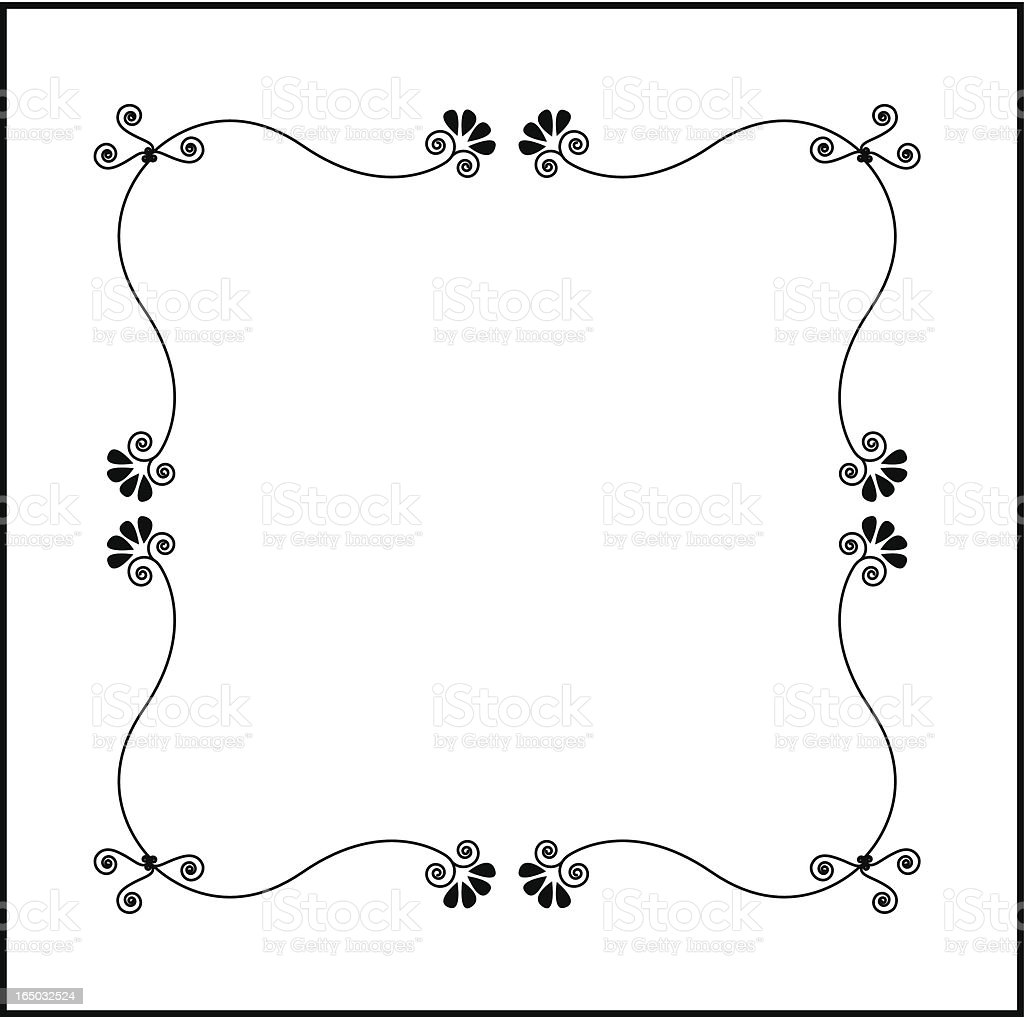 Curly Girly Frame ( Vector ) royalty-free curly girly frame stock vector art & more images of art and craft