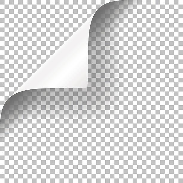geschweiften seite ecke - buchseite stock-grafiken, -clipart, -cartoons und -symbole