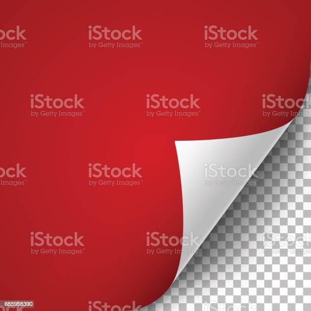 Krullende Pagina Hoek Stockvectorkunst en meer beelden van Aan de kant van