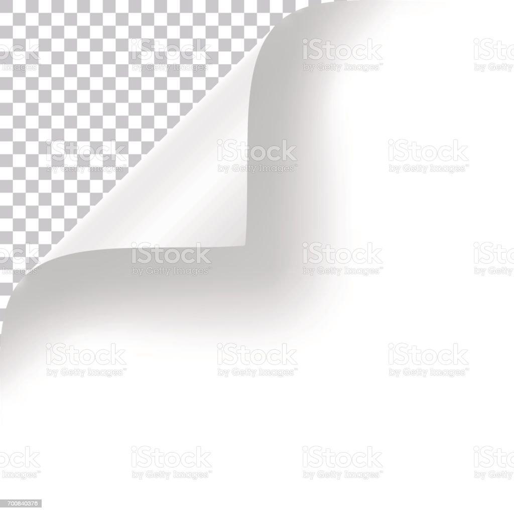 Curly Page Corner vector art illustration