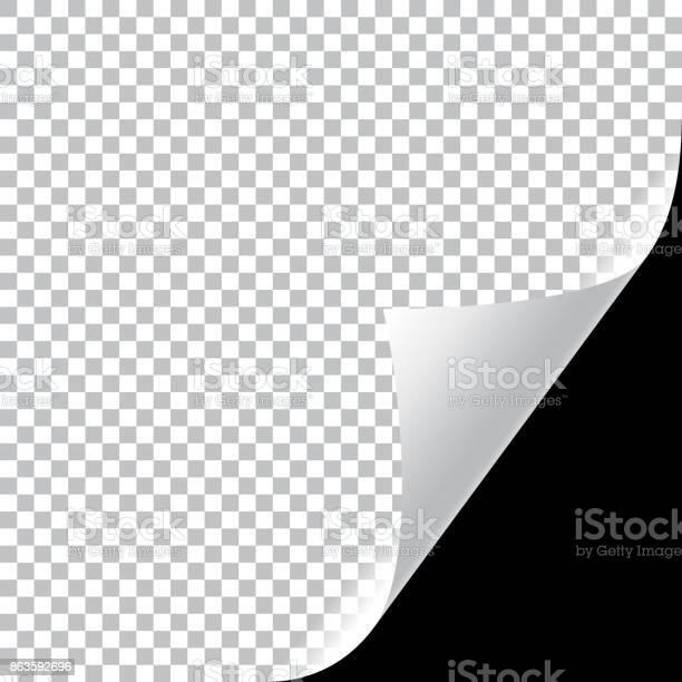 Krullend Pagina Hoek Stockvectorkunst en meer beelden van Beschrijvende kleur