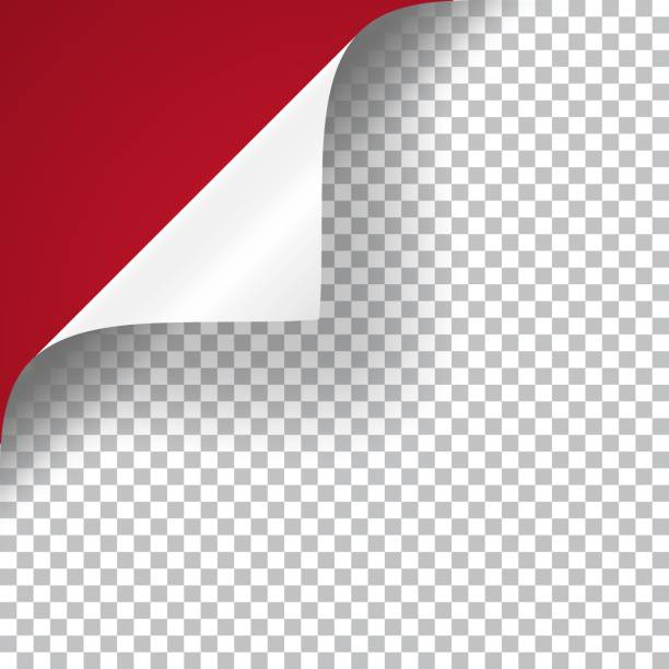Curly Page Corner Curly Page Corner realistic illustration with transparent shadow. Ready to apply to your design. Graphic element for documents, templates, posters, flyers. Vector illustration. bending stock illustrations