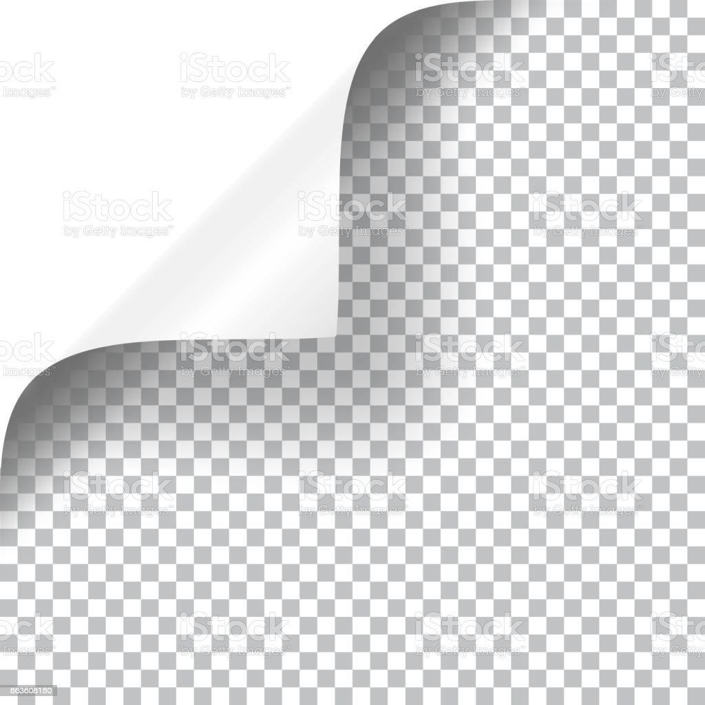 Bouclés Page d'angle - clipart vectoriel de Affaires libre de droits