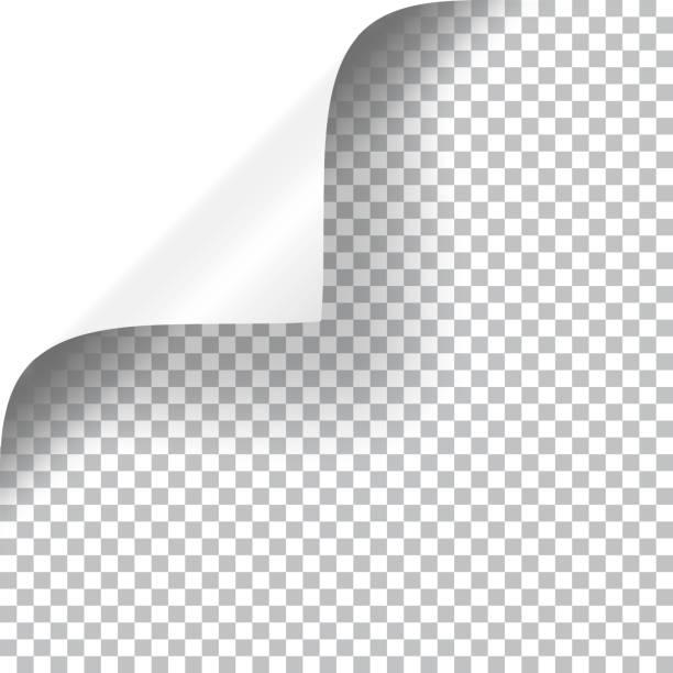 stockillustraties, clipart, cartoons en iconen met krullend pagina hoek - geschild